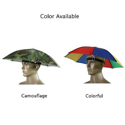 Foldable Sun Umbrella Hats Fishing Camping Headwear Cap Head Hat For Outdoor