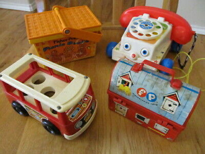 Fisher Price Vintage Lot of 4 Children's Toys - Some for use with Little People