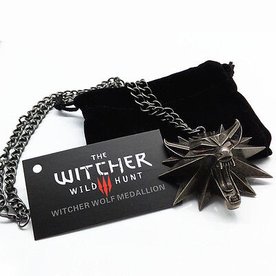 Witcher III pendant medallion wizard wolf wild hunt 3 Figure Game Alloy necklace