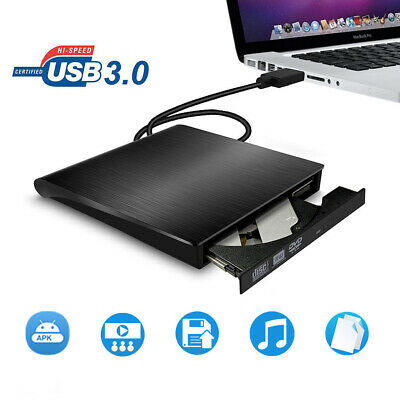 AU  USB 3.0 Ultra Slim External DVD/CD RW Combo Burner ROM Drive & Blue-Ray Disc