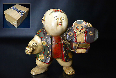 "Antique Japanese Gohun Gosho Doll Flying a Kite 7"" Edo Period"