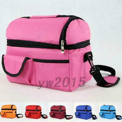 Insulated School Work Lunch Bag Tote Picnic Travel Bags Large Capacity AU Post