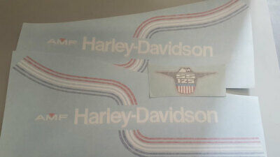 Harley Davidson Amf Ss 125 Serie Adesivi Stickers
