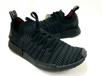 official photos 41cf5 17736 ADIDAS NMD R1 STLT PK Primeknit Triple Black Boost Mens Size 10 CQ2391 New