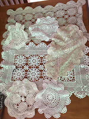 Vintage Crochet Doilies Bulk Lot Of 50