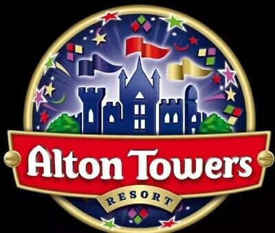 25.08.19 Alton Towers x4 Tickets Sunday 25 August 2019