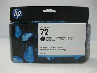 HP 72 Matte Black Ink Genuine * SMALL FLAW BOX * SHIPS OVERBOXED Date: May 2021