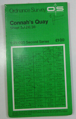 1975 Old OS Ordnance Survey Second Series Pathfinder Map SJ 26/36 Connah's Quay