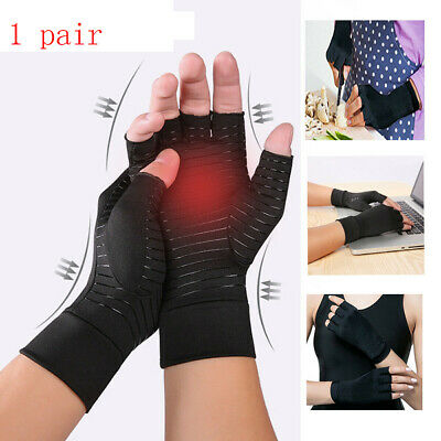 Therapy Compression Finger Pain Relief Wrist Brace Arthritis Copper Gloves Joint