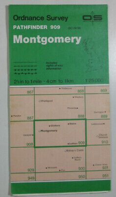 1978 Old OS Ordnance Survey 1:25000 Pathfinder Map 909 Montgomery SO 29/39