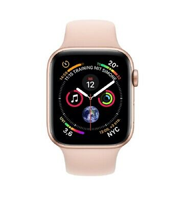 Apple Watch Series 4 40mm GPS Aluminium Gold, Sportarmband Sandrosa