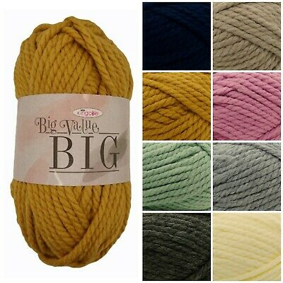 King Cole Big Value BIG Super Chunky Premium Acrylic Knitting Yarn 250g
