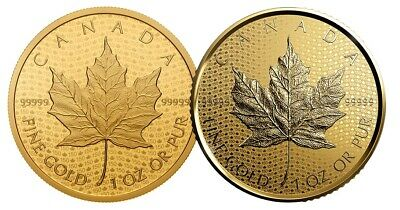 2 x Canada 2017 200$ 150 Iconic Maple Leaf SET 1oz Pure Gold Coin First & Second