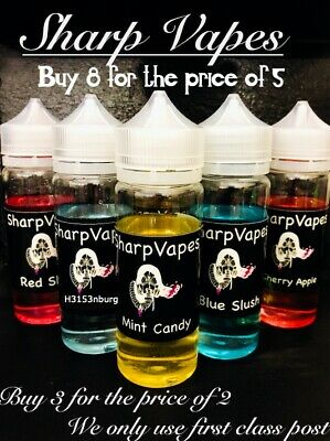 100ml E liquid Vape Juice Eliquid 100ml Max VG 80/20 Cloud Chaser 0MG 3MG 6MG