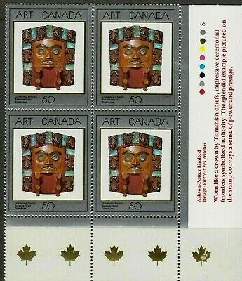 CANADA Stamp #1241 50¢ Masterpieces of Canadian Art LR Inscription Block MNH