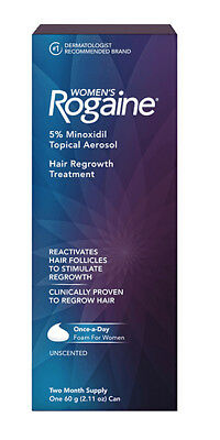 NEW Women's Rogaine Foam Hair Regrowth Treatment 4 Month Supply EXP 08/2020