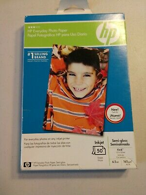 HP Everyday Semi Gloss Photo Paper 50 Sheets 4 X 6 Q8868A Inkjet FACTORY SEALED