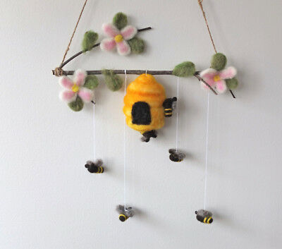 Blossom and Bee Felted Baby Mobile
