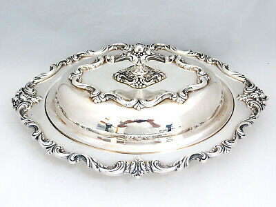 """Magnificent Silver """"Orleans"""" Covered Dish that Converts to 2 Dishes"""