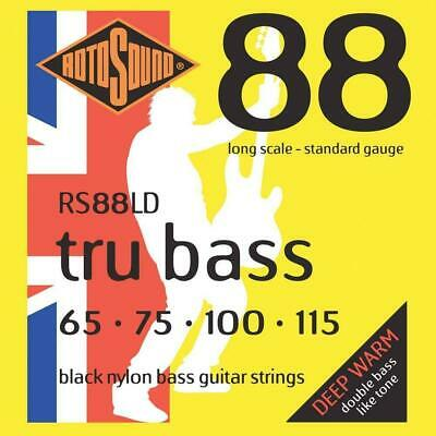 rotosound rs88ld black nylon flatwound 4 string bass guitar strings 1 pack picclick ca. Black Bedroom Furniture Sets. Home Design Ideas