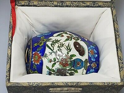 A Superb Limited Edition Chinese Enamel Tea Caddy. The St James's House Company.