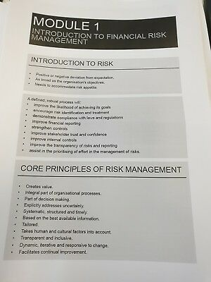 CPA FRM (Financial Risk Management) HD Notes 2019