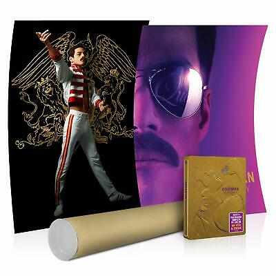 Bohemian Rhapsody Blu-Ray Limited Edition Exclusive Steelbook + 2 x Posters New+
