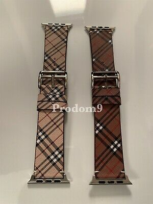 Burberry Gucci Louis Vuitton Apple Watch Band Leather iWatch Strap 38/40/42/44mm