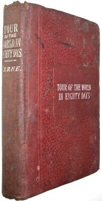 Old Antiquarian Copy of AROUND THE WORLD IN 80 DAYS!by JULES VERNE! 1800's RARE!