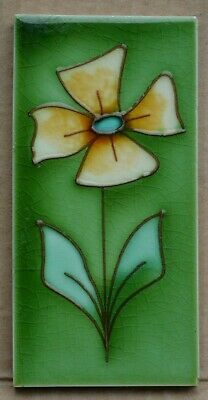 England - Antique Art Nouveau Majolica Border Tile C1900