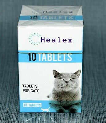 10 Tablets Healex Cat Dewormer Tablets for Cats with Tapeworm and Roundworm