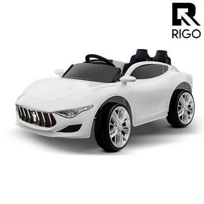 Rigo Kids Ride On Car Electric Toys 12V Remote Control Battery White MP3 LED