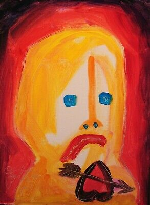 Modernist ABSTRACT Modern Painting FIGURE Expressionist ART SORROW'S FOLTZ