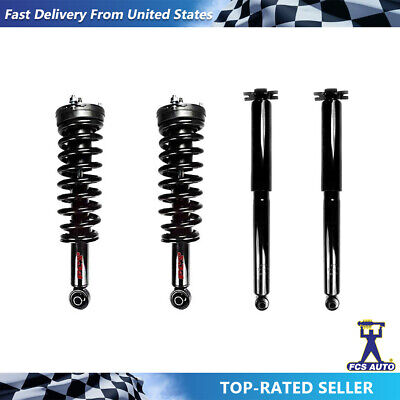 For Chevy Colorado GMC Canyon Front Struts /& Coil Spring /& Rear Shocks FCS Set