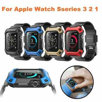 For Apple Watch Series 3 2 1, SUPCASE UBPro Smart Wristwatch Band Case Cover US
