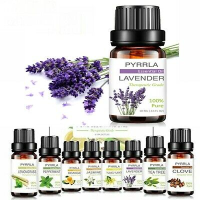 10ml 100% Natural Pure Essential Oil Fragrances Aroma Aromatherapy Therapeutic