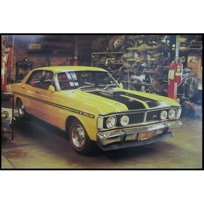 "FORD FALCON XY POSTER - GTHO PHASE 3 - YELLOW - 91 x 61 cm 36"" x 24"""