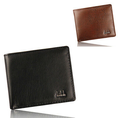 Men's Faux Leather Bifold Wallet Credit/ID Card Coin Holder Short Purse Reliable