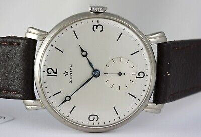 Zenith vintage! Stunning Art Deco Jumbo 38mm case! Zenith manual wind movement!