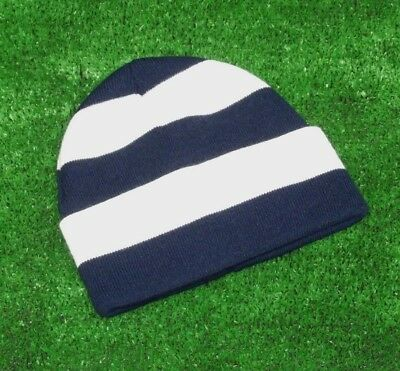 Millwall FC Colours Retro Bar Hat - Navy & White - Made in UK