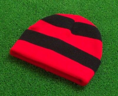 Walsall FC Colours Retro Bar Hat - Red & Black - Made in UK