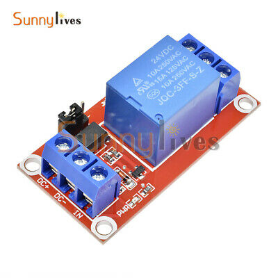 DC 24V 1-Channel 1CH Relay Module w/ SMD Optocoupler Isolation H/L Level Trigger