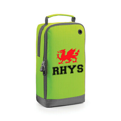 Welsh Dragon Rugby Boot Bag - Sports Shoe School PE Kit Accessory Football Wales