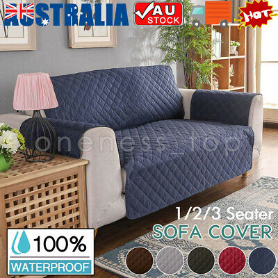 REVERSIBLE Quilted Waterproof Sofa Protector Couch Covers 1/2/3 Furniture Protec