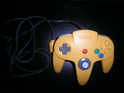 nintendo 64 n64  official yellow controller - fully tested