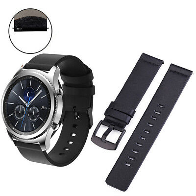 CG_ FT-  Genuine Leather Wristband Watch Strap for Samsung Gear S3 Classic Fron