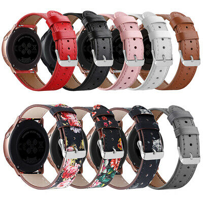 CG_ ITS- Durable Faux Leather Wristband Bracelet for Samsung Galaxy Watch Active
