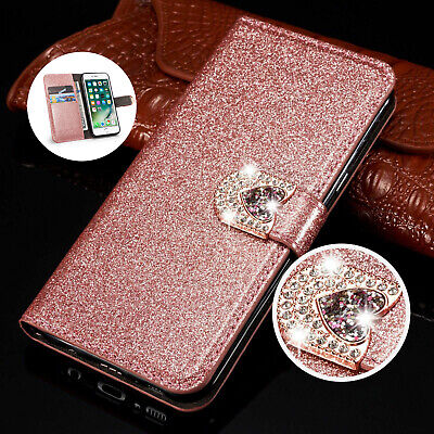 For Samsung Galaxy A20e A70 A50 A40 Glitter Flip Leather Wallet Phone Case Cover