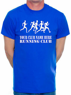 Customised Your Club Name Here Choose Your Team Name Running Mens T-Shirt