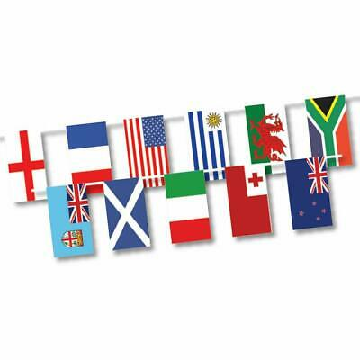 2019 Rugby World Cup Japan 20 Country Flags Bunting 6 Meters Polyester Garland